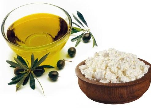 Оливковое масло и творог в креме