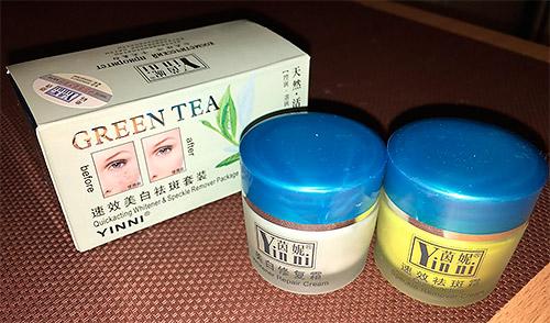 крем зеленый чай как пользоваться